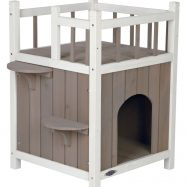 Casa para gatos em madeira