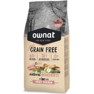 RAÇÃO OWNAT JUST GRAIN FREE ADULT CHICKEN GATO