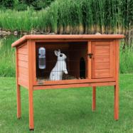 jaula em madeira para coelhos