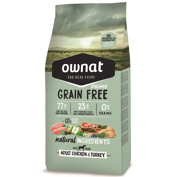 RAÇÃO OWNAT GRAIN FREE PRIME ADULT CHICKEN