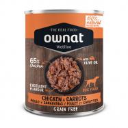 Ownat Wetline é uma nova proposta de alimentação húmida para cão feita com ingredientes 100% naturais, carnes e peixes frecos. Latas 400 gr.