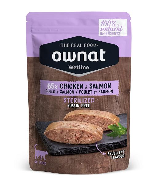 Ownat Wetline é uma nova alimentação húmida para gatos feita com ingredientes 100% naturais. Com altas percentagens de carne e peixe frescos.