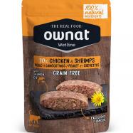 OWNAT WETLINE GRAIN FREE é uma nova proposta de alimentação húmida para gatos. Carne e peixes frescos. Proteínas de elevado valor biológico.