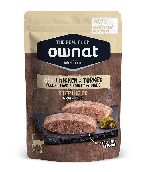 Ownat Wetline uma nova proposta de alimentação húmida para gato feita com ingredientes 100% naturais. Apenas utilizamos ingredientes frescos.